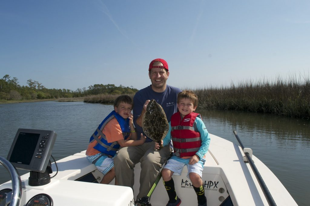 family flounder fishing