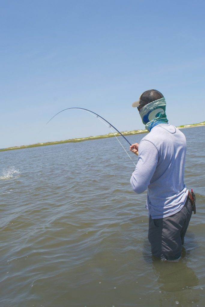 wade fishing flood tides for redfish