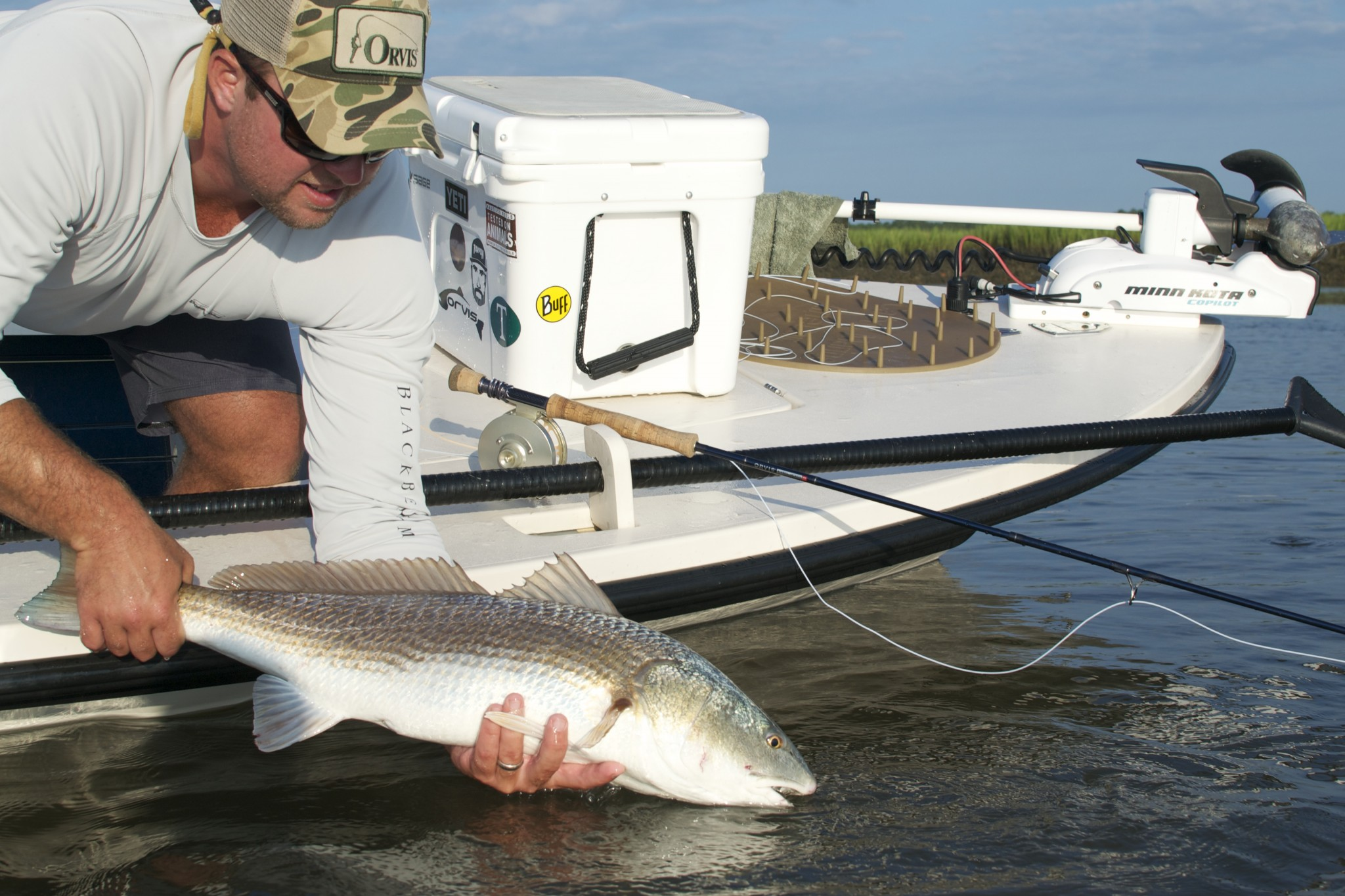 flyfishing guide - REDFISH ON FLY