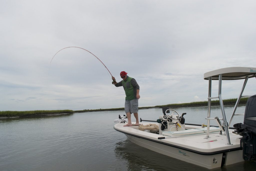 fly fishing for redfish -pawleys island