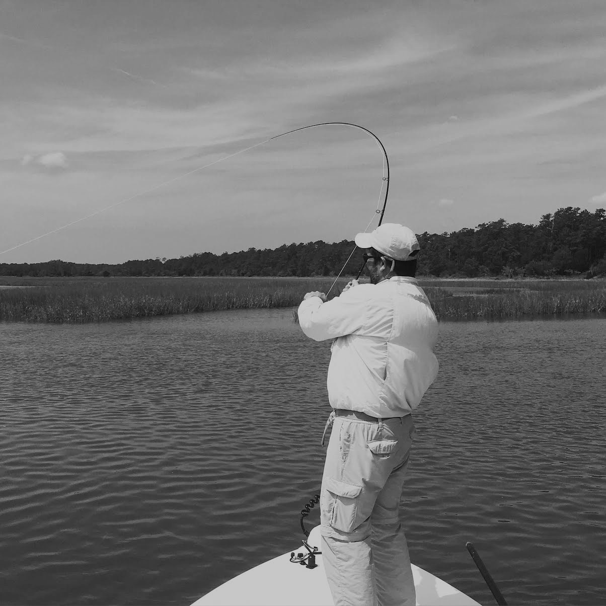 Fly fishing for georgetown redfish