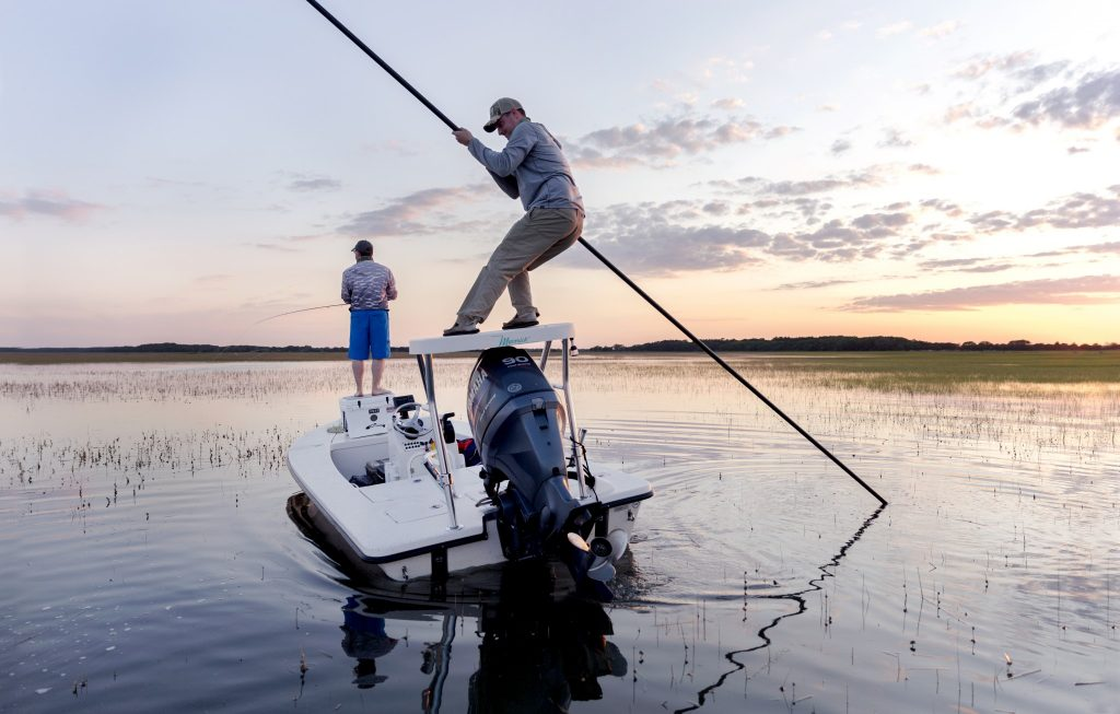 poling the flats