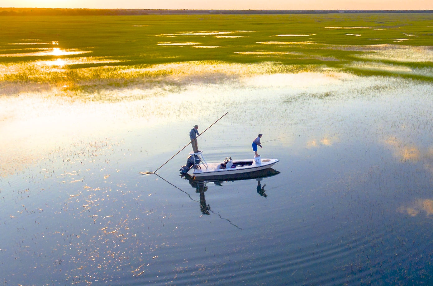 Fly fishing winyah bay living water guide services for South carolina fishing