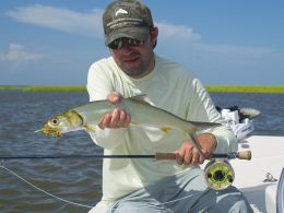 Lady fish-fly fishing winyah bay