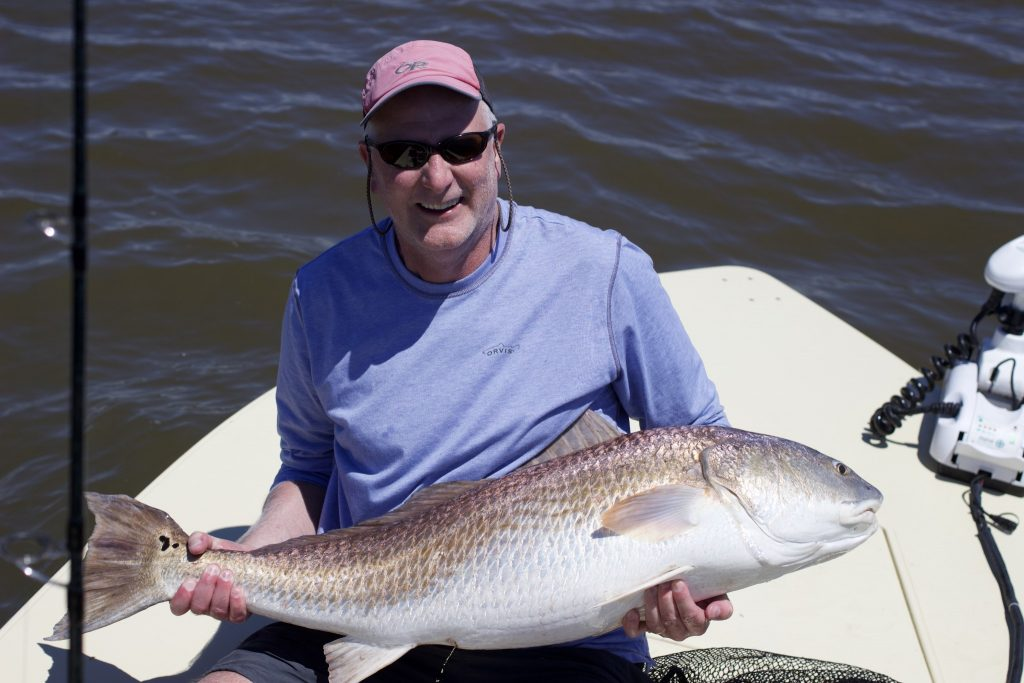 huge Redfish - pawleys island